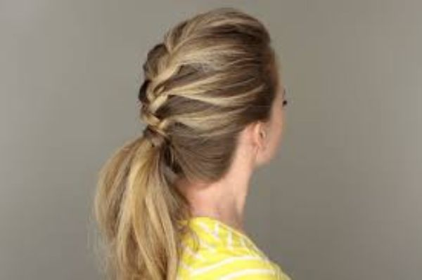 French Braid with Ponytail