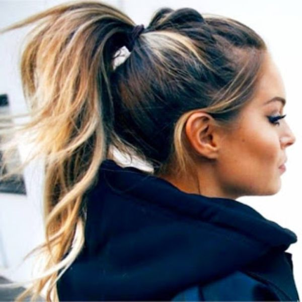 Poofy Ponytail with Bump