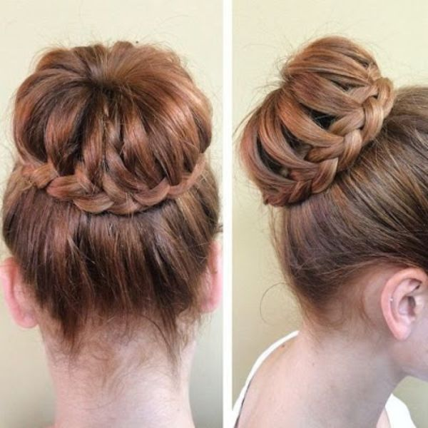 Up do with Side Braids
