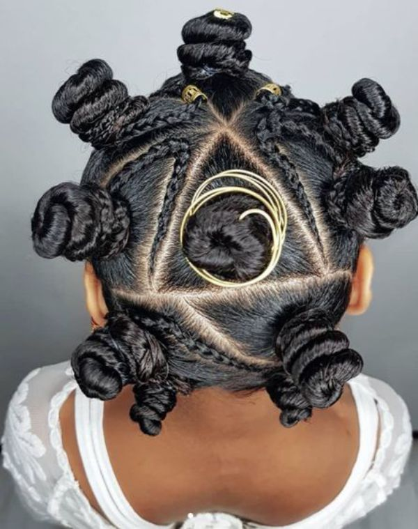 Bantu Knots with Beads