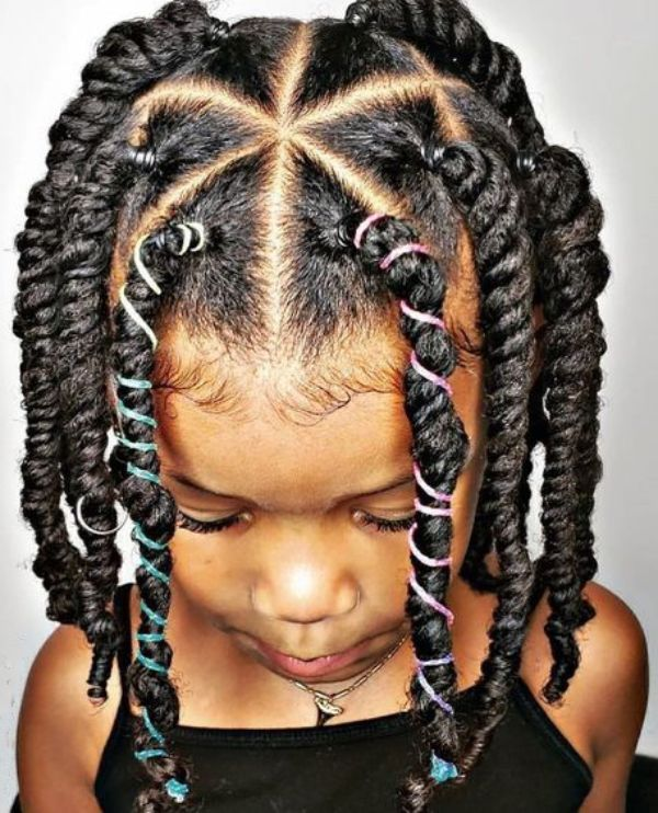 More Hairstyles with Beads for Little Girls
