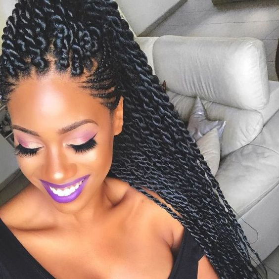 Senegalese Twists Up-do