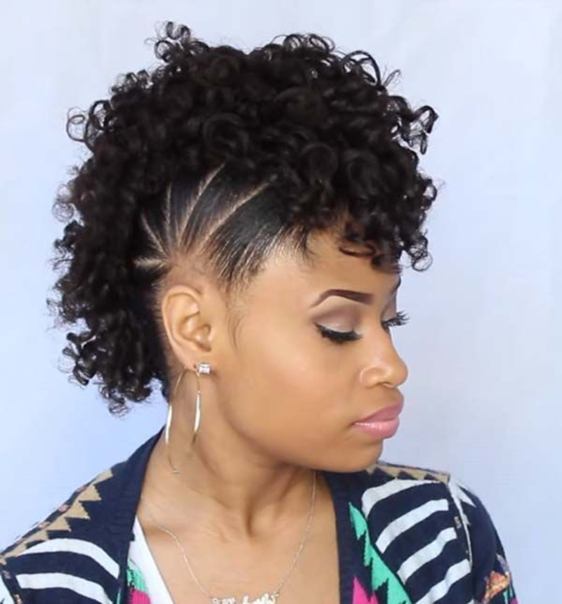 Edgy Curly Mohawk