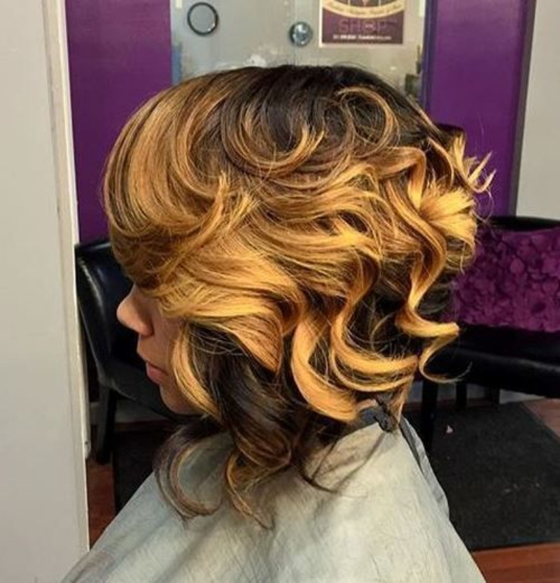 Curls With Blonde Balayage