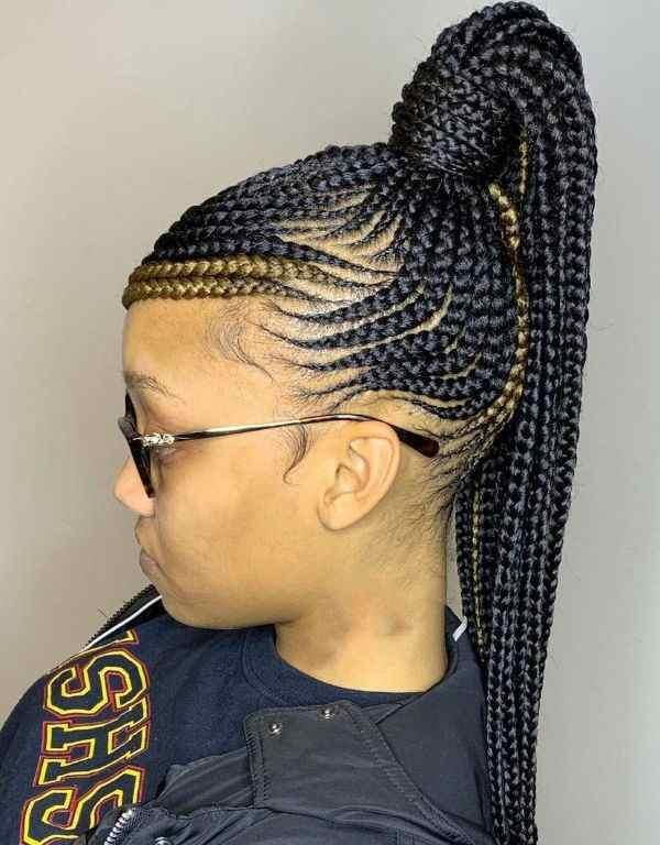 lemonade braids ponytail