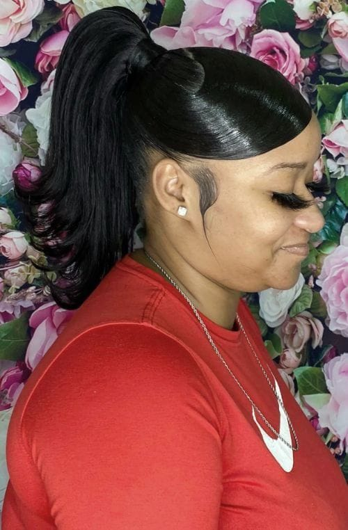 Ponytail with Swoop Bang