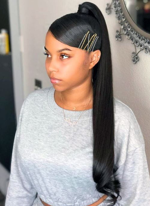 Bobby Pins, Swoop Bangs, and High Ponytail