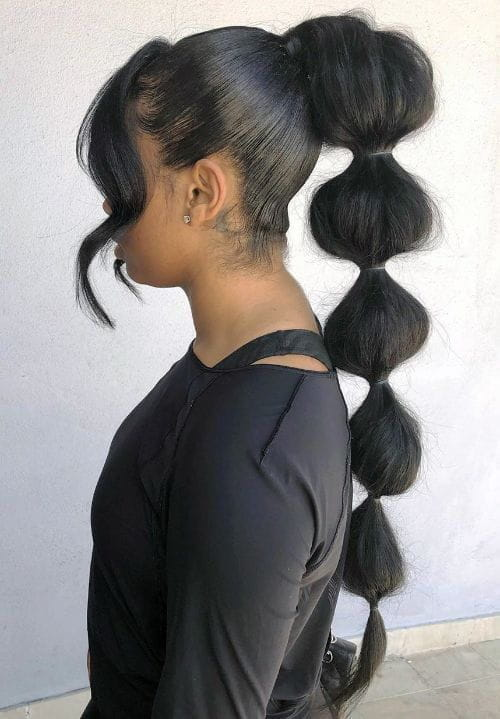 Bubble Braids with Bangs