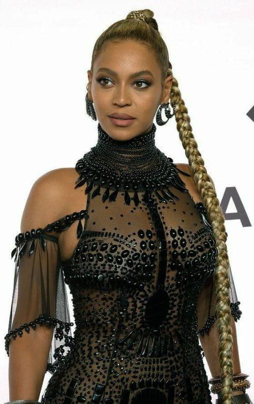Beyoncé with Long Blonde Indian Braid